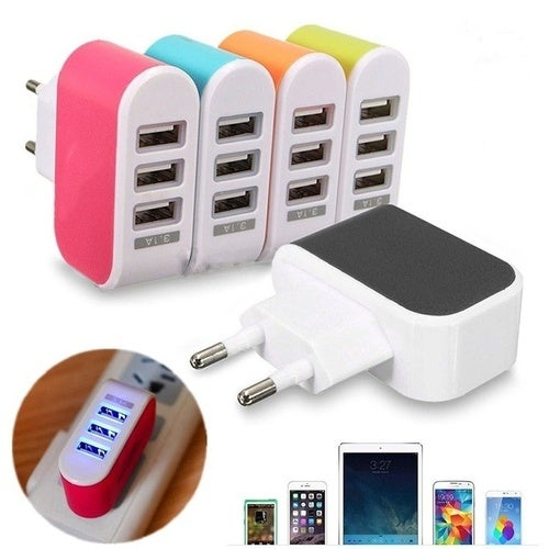 USB Port Wall Home Travel AC Charger Adapter for Tablets iPhone Sumsung US Plug
