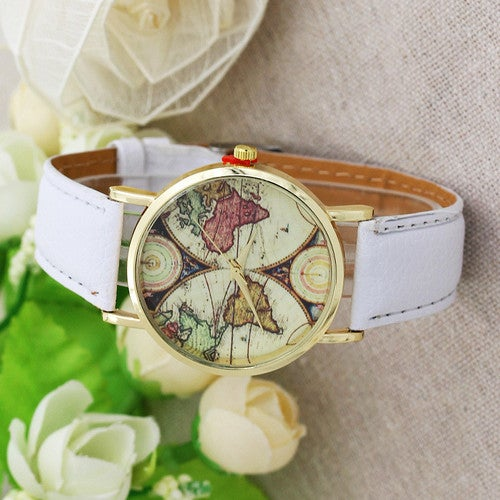 Color map ladies watch two hemisphere belt jewelry no scale table