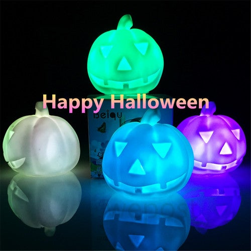 Colorful Pumpkin LED Night Light Halloween Decorations or Gift.