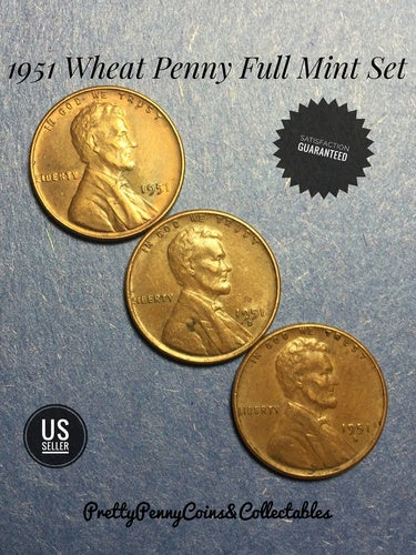 1951 Wheat Penny Full Mint Set PDS | Tophatter