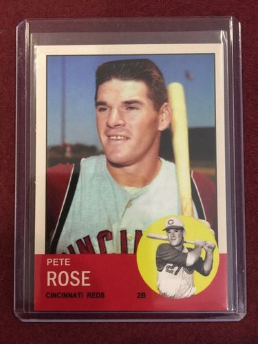 Authentic 1963 Topps Aceo 578 Pete Rose Rookie Card Tophatter