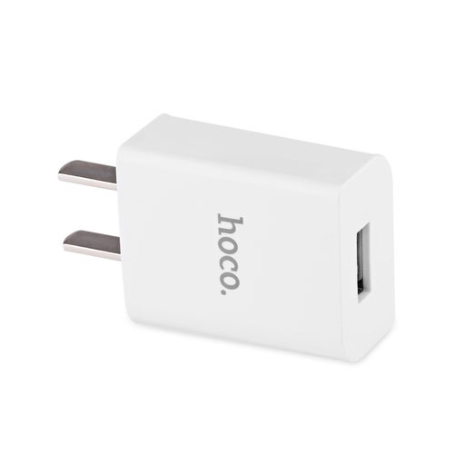 HOCO C10 Universal Single USB Port Home Wall Power Supply Charger Adapter