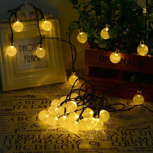 Crystal Bubble Ball Led String Lights 2M/20led Waterproof Holiday Christmas Wedding Party Outdoor Fairy Light Lamp