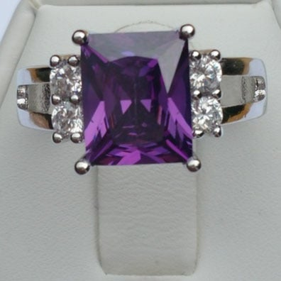 Agaetra Ring on a Silver Overlay Band. Sizes 7, 8 or 9 only.