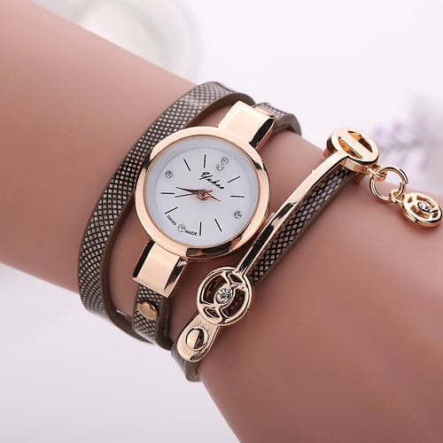 Women's Cute Watch With Multi-layer Band