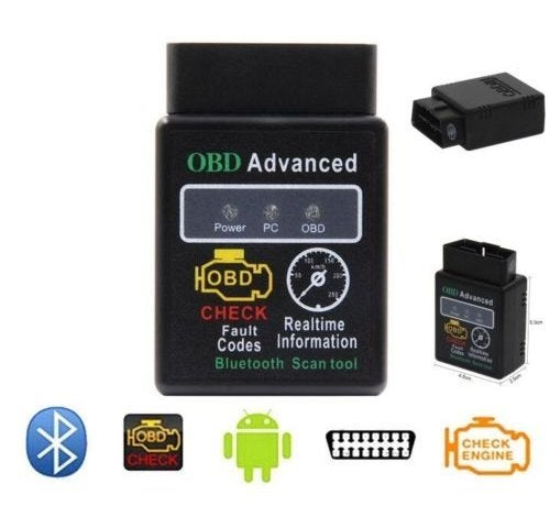 New Bluetooth OBD2 OBDII CAN BUS Check Engine Car Auto Diagnostic Scanner Tool Interface Adapter For Android PC ELM327 Latest V1.5