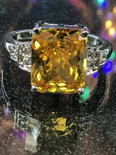 Champagne Agetra Ring. Size 8, or 9.