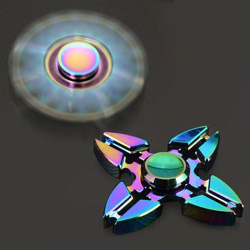 Rainbow Four Spinner Figet Spinner Hand Finger Desk Focus Colorful Toy Kids Gift