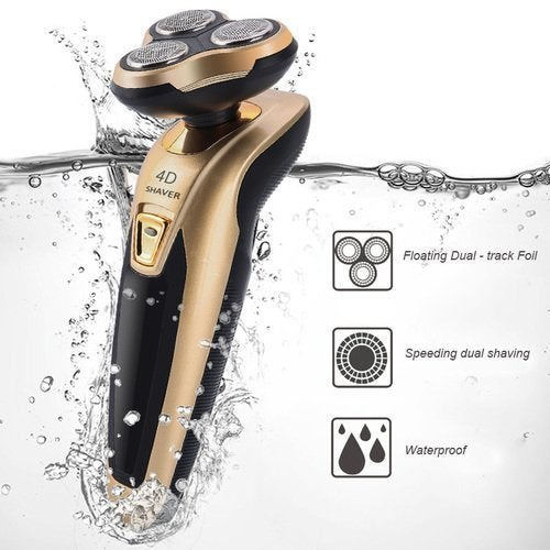 Men's Rechargeable Electric Shaver Triple Rotary Heads   Tophatter