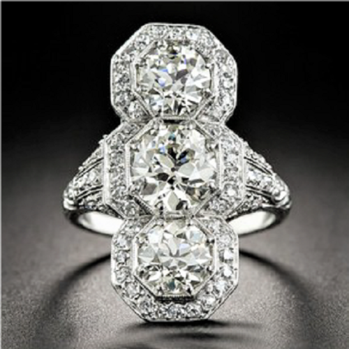 Vintage Inspired 10.75 Carat Ring Over 1 Inch Tall