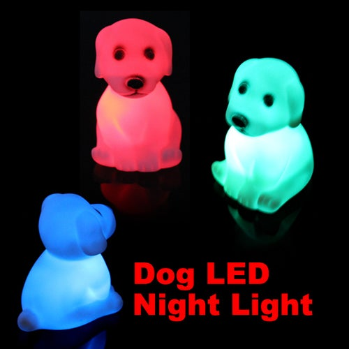 Hot Selling Color Changing Cute Dog Light LED Night Xmas Mood Lamp Birthday Party Holiday Decoration Lamps
