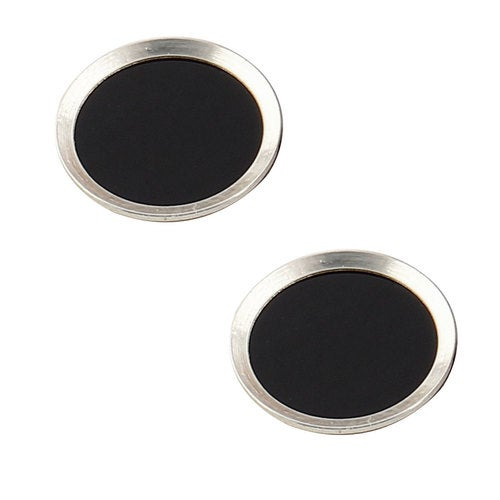 Metal Phone Home Button Sticker Protector 2 PCS Silver Tone for iPhone iPad