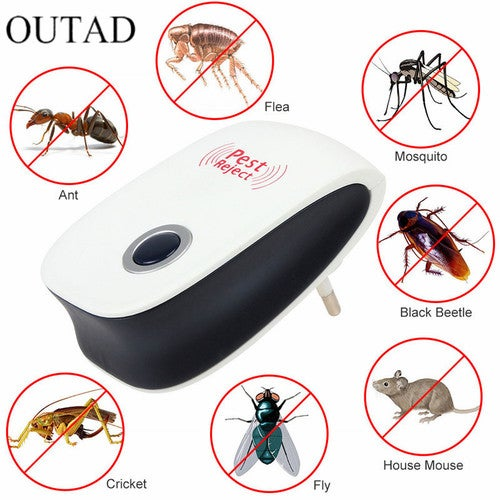 Home Use Enhanced Version Electronic Cat Ultrasonic Anti Mosquito Insect Pest Controler Mouse Cockroach Pest Repeller EU/US Plug