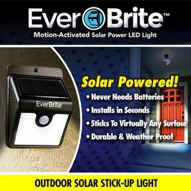 Solar energy Ever Brite Solar Outdoor Stick Up Light