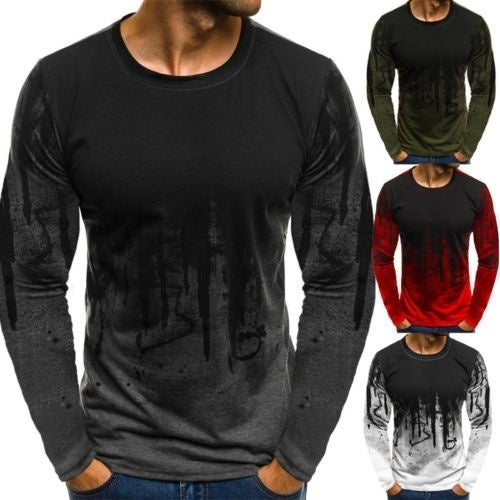 3a7d0dbae2b3 Men´s Slim Fit O Neck Long Sleeve Muscle Tee Shirts ...
