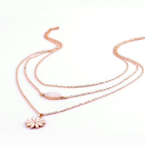 New Fahion Hot Multilayer Gold Plated Statement Necklace Choker Pendant Jewelry for Women Gift Girls