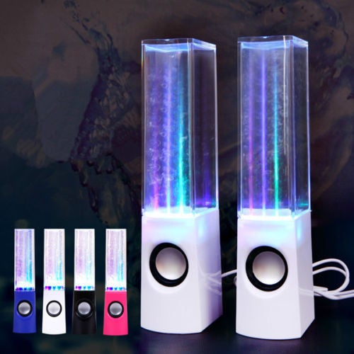 LED Dancing Water Show Music Fountain Light Stereo Speakers for IPhone IPad PC Many Colors