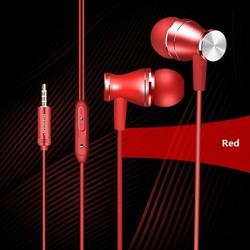 Professional In-Ear Earphone Metal for phone with Mic Microphone 3.5mm jack wired headset Stereo Bass Earbuds