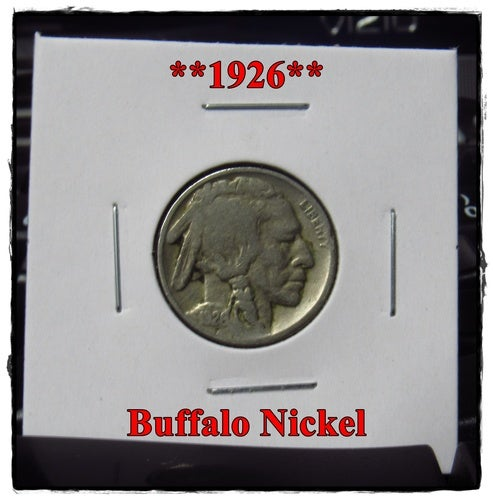 ★★1926★★ 92 Years Old ★★ Buffalo Nickel  - Rare and Authentic - Full Date