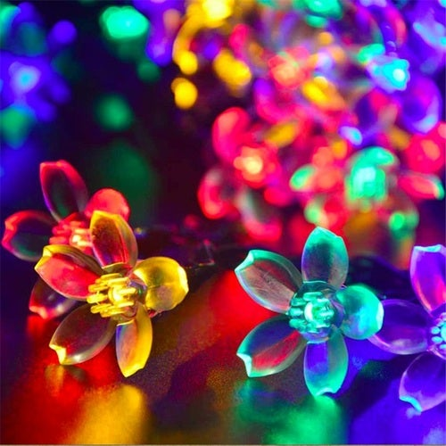 Cherry Blossoms 1.2M 10leds LED Fairy String Lights Copper Home Outdoor Decoration Holiday Party Christmas Light
