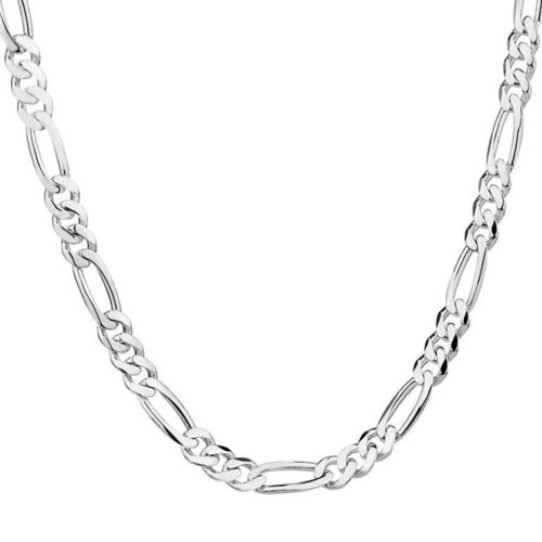 Silver Plated Thin Figaro Chain