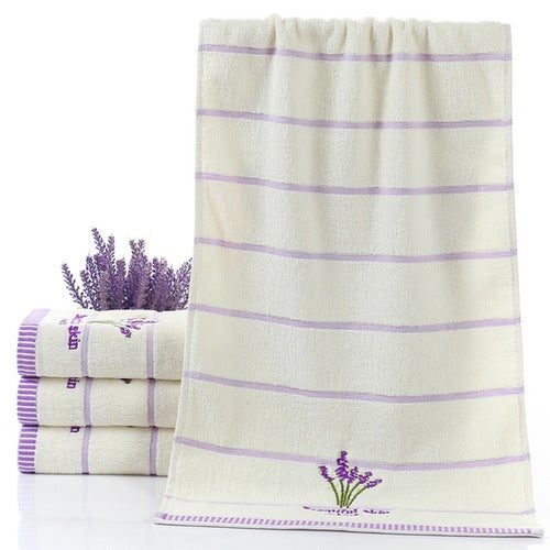 Quick-drying Pure Cotton Thicken Stripe Face Towels...