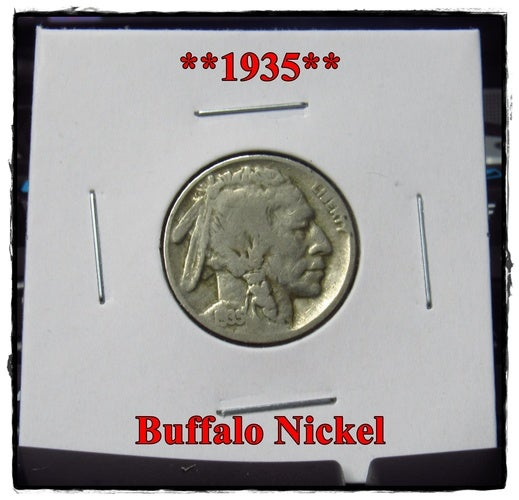 ★★★1935★★★ 83 Years Old ★★★ Buffalo Nickel  - Rare and Authentic - Full Date
