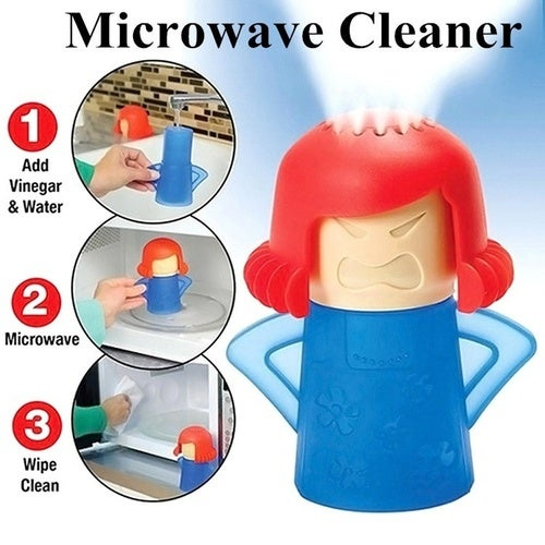 Amazing! Hot New Metro Angry Mama Microwave Cleaner Steam Cleaners Kitchen Gadget Tools (4 Colors)