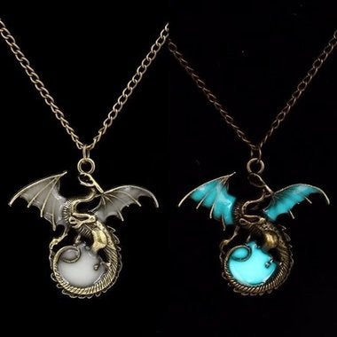 Colorful Luminous Dragon Necklace