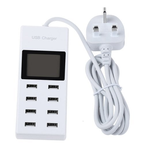 USB Power Adapter 8 Ports Charging For Mobile Phone Tablet