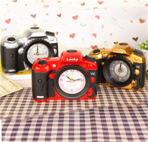 Home Furnishing Articles To Decorate Children Cartoon Alarm Clock Camera Model Creative Alarm Clock Students Present