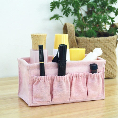 1PCS Home Foldable Make Up Storage Box Desktop Cosmetic Organizer Makeup Container(18x10x10cm)