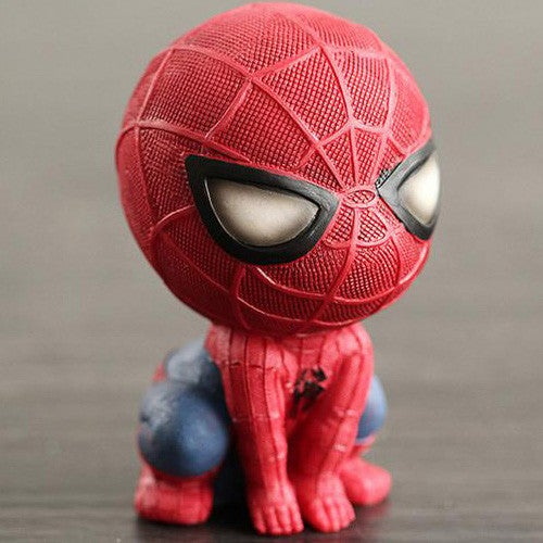 Marvel Spider Man Homecoming Spiderman Q Version Figure Collectible Model Toy Car Decoration Doll