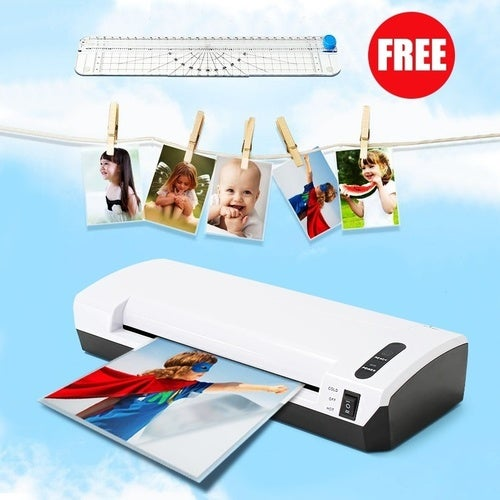 Laminating hine A4 Document Photo Photography Hot/Cold Lamination For Home House Office With EU Plug