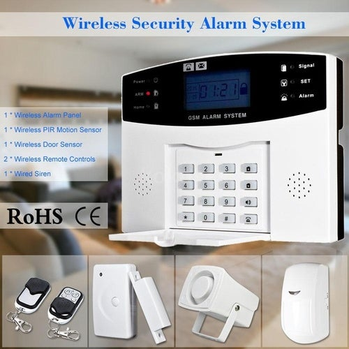 Wireless home security alarm system GSM Alarm Security System Keyboard Sensor SMS & Dialing