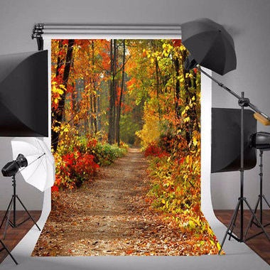 Autumn Forest Vinyl Photography Backdrop Background Studio Photo Props 3x5FT
