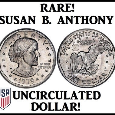 RARE! - GENUINE UNCIRCULATED Susan B. Anthony Dollar Coin - USA Seller!!!