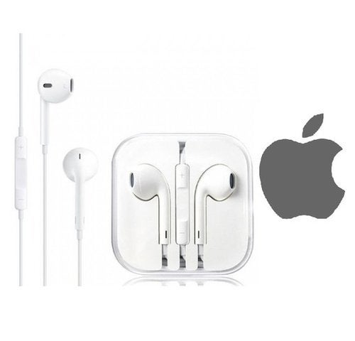 New Earphones EarBuds for Apple iPhone 4, 5,5s 6 6s plus 7 7 plus 8 X Headphones With Mic and Volume(White)