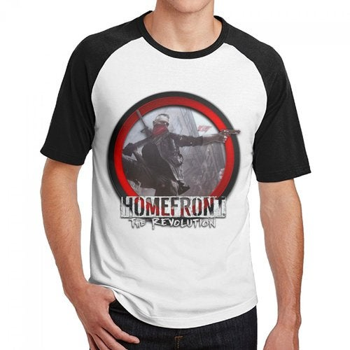 Homefront The Revolution 2016 Logo Men's Cotton Short Baseball Raglan Sleeves T-Shirt