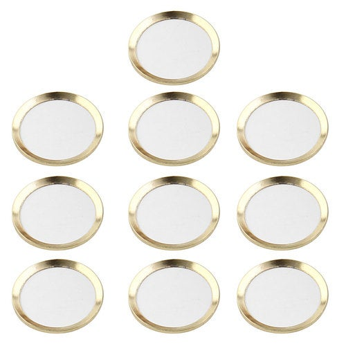 Metal Phone Home Button Sticker Ring Protector 10 PCS Gold Tone for iPhone