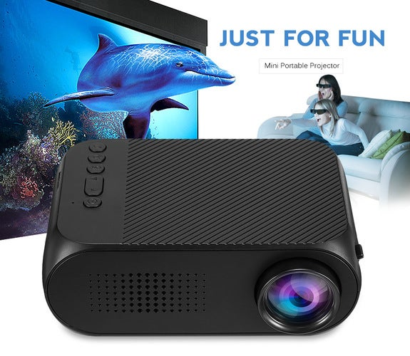Mini LED Projector Home Theater Cinema 1080P Video HDMI USB Pocket Proyector with Built-in Speaker