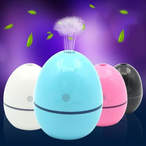 Portable Mini Home LED Egg Shape Air Humidifier Purifier Atomizer USB Air Diffuser with LED Night Light