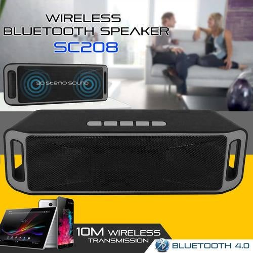 Latest Portable Wireless Bluetooth Stereo Speakers Support FM TF USB AUX UK