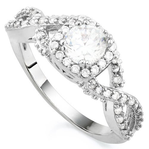 1.26ctw White Gold Filled, Beautifully Created Fine White Sapphire Ring