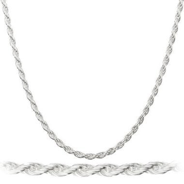 Silver Plated 2MM Rope Chain 24