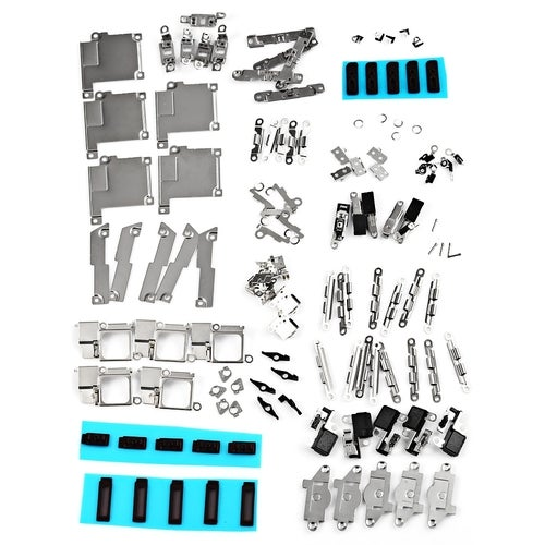 5Pcs / Set Small Metal Parts Holder Bracket Shield Plate Home Logic Kits Repalcements for iPhone 5S(1 Color)