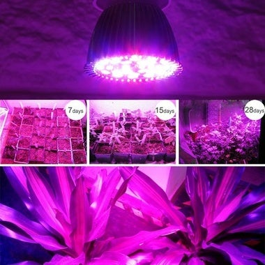 28W Full Spectrum E27 Led Grow Light Growing Lamp Bulb For DIY Hydroponics Plant