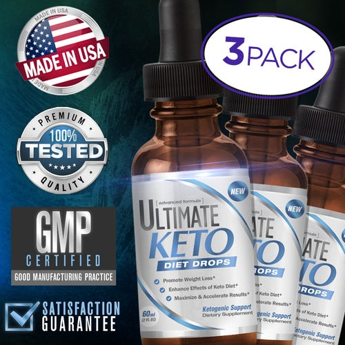 Diet Drops for Weight Loss and Ketogenic Support - 3 Pack