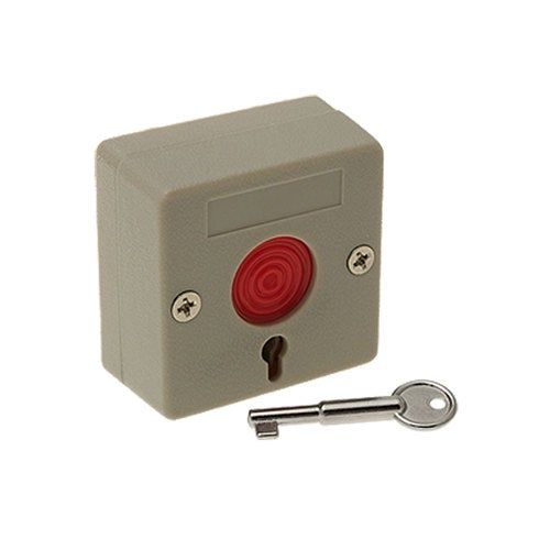 Unique Bargains Home Office DC12V 1.25A Emergency Panic Switch Button with Key New