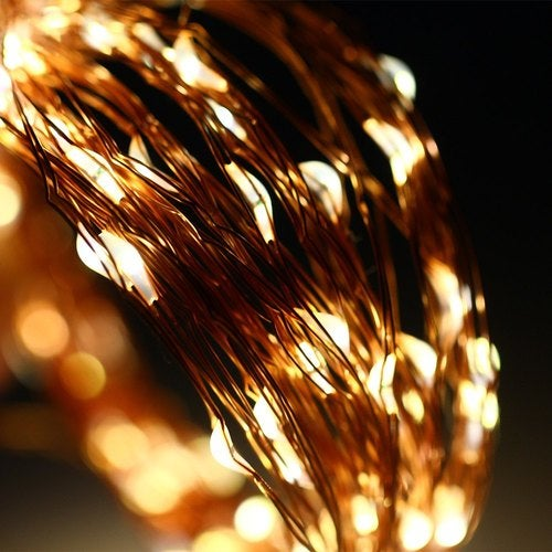 10M 100 LED Waterproof Starry String Copper Wire Light for Christmas Holiday Wedding Party Decoration